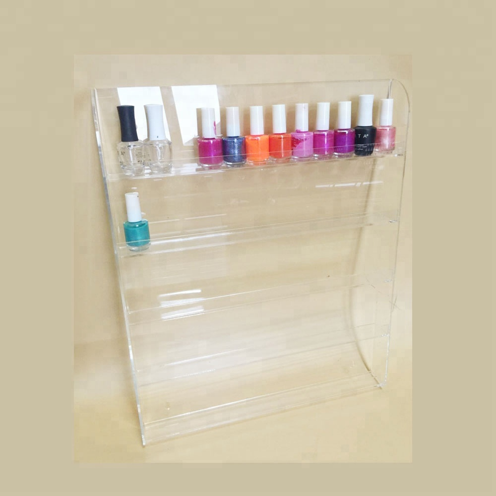 60ct clear acrylic wall mounted nail polish display stand salon display