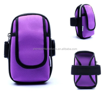 Purple neoprene phone armband case cell phone wallet