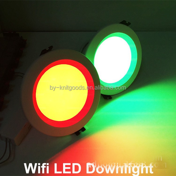 2015 hot sale high quality ip44 high power wifi control RGB led <strong>downlight</strong> 230v price