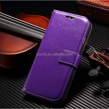 Newest blank leather flip case for i6 4.7inch