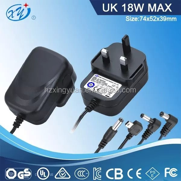 Travel ac to dc Power Adapter Laptop Charger Hs Code Uk Plug Adapter with BS