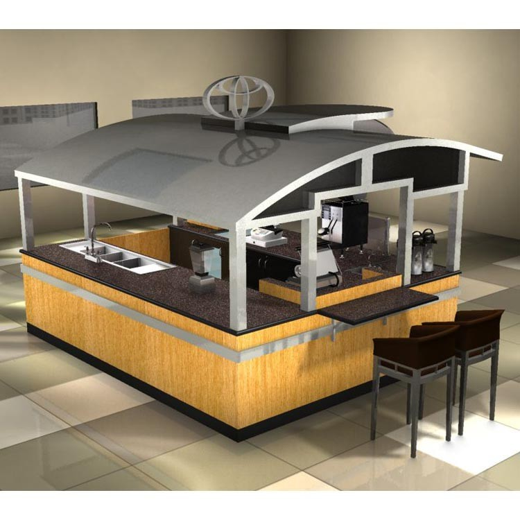 High end modern potato spring fast food kiosk design