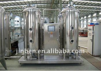 Carbonated drink and water mixing machine
