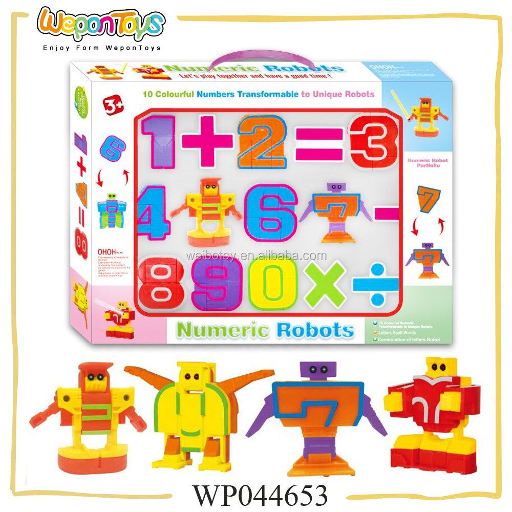 educational number game for teachig calculation number change into robot game math toys for kids