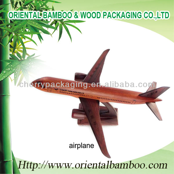wooden airplane craft manufacture festvial gift rose wood airplane OEM