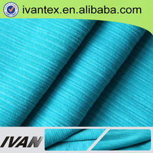 2015 fashion knitted fabric for shirt TR spandex slub knitted fabric