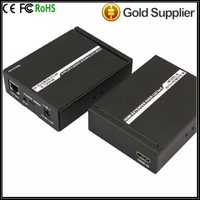 Hot Wifi 30 170ft(50meters) Bi-direction RS232 USB KVM HD Extender Over Signal Cat 5e/6 Support 3D IR