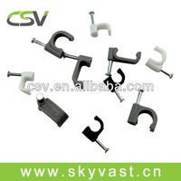 Circle steel nail clip cable cleat