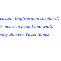 Custom plush dog (German Shepherd) for Victor Sanez