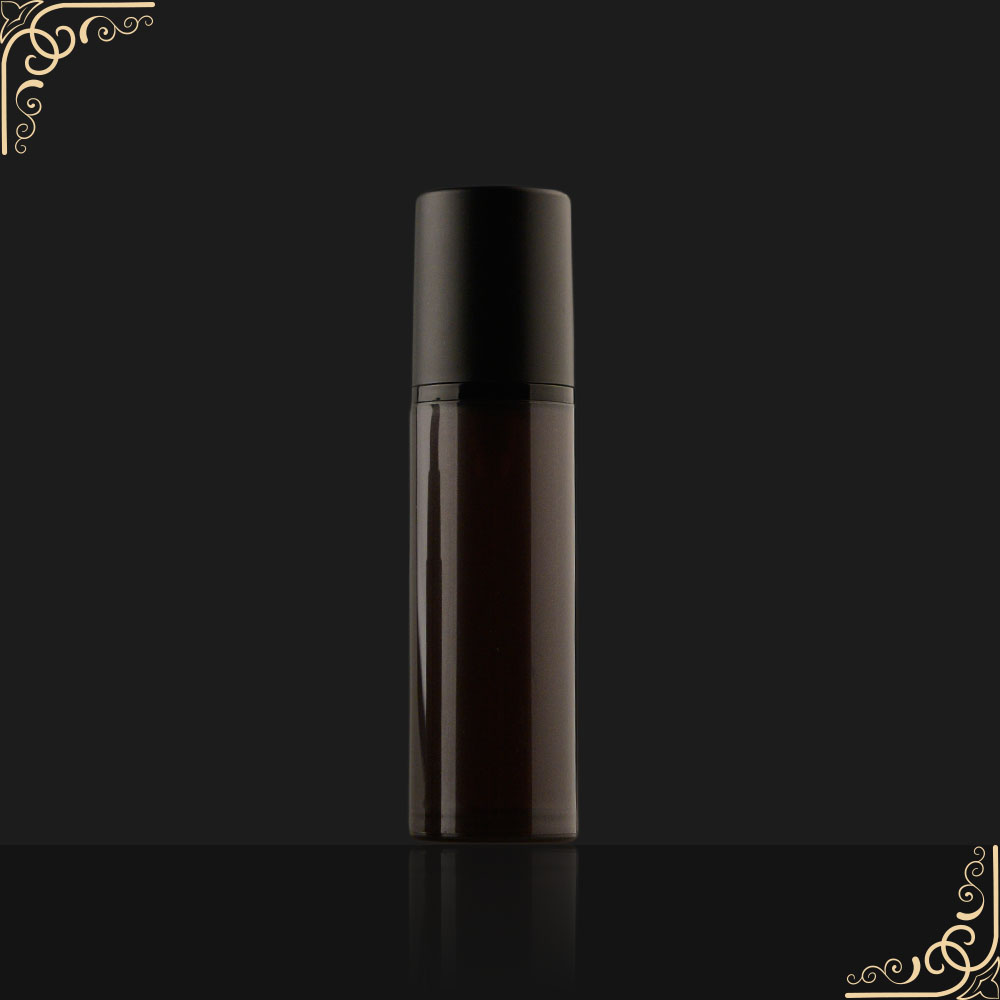 Best Quantity 15ml 30ml 50ml Black Color Airless Pump Plastic Perfume Bottle with Cream Pump