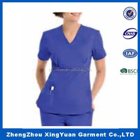 chinese collar scrub suit with oem