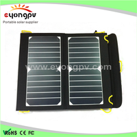 13W Solar Charger with Dual USB foldable ismart Technology