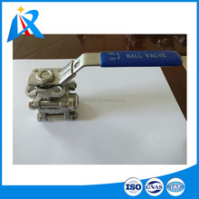 Fast delivery time lower price & high quality 3 piece 316/304 material stainless steel ball valve