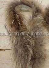 Factory price high quality fashion Racoon dog fur trim 60*(9-12)cm