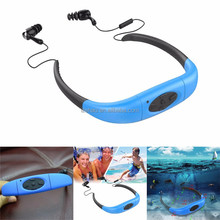 Stereo sound handsfree mp3 player waterproof neckband mp3 with FM radio