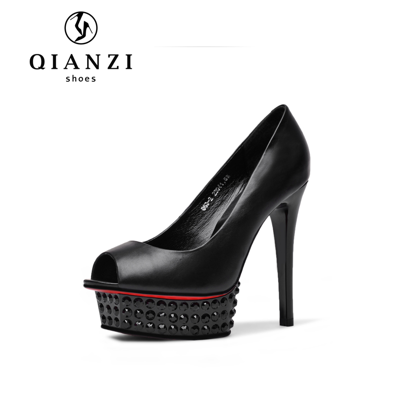 Y001 Latest design sex women high dressy black heel shoes ladies footwear china