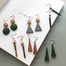 Vintage Women Ladies Designs New Model Mix Color Korean Tassel Earrings Drop Wood Wooden Earrings