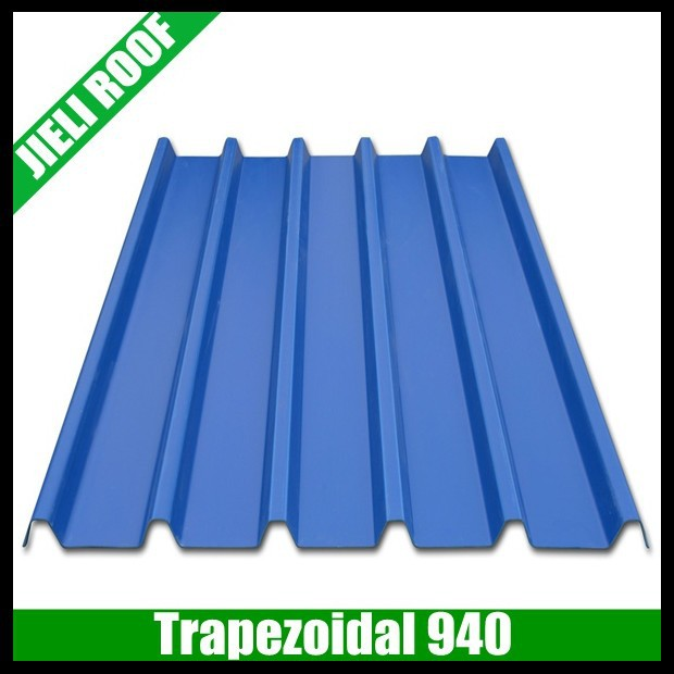Trapezoidal type 940 upvc plastic sheets roof tile prices