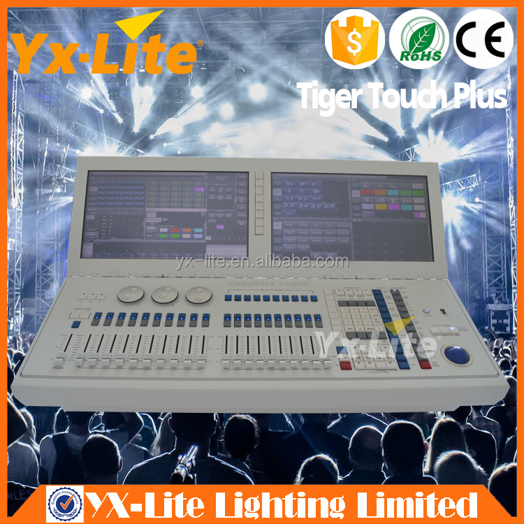New Upgrade 6144 channels Tiger Touch DMX Lighting Controller with two touch screen
