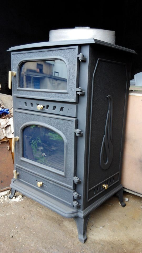 cast iron wood burning Stove with Oven
