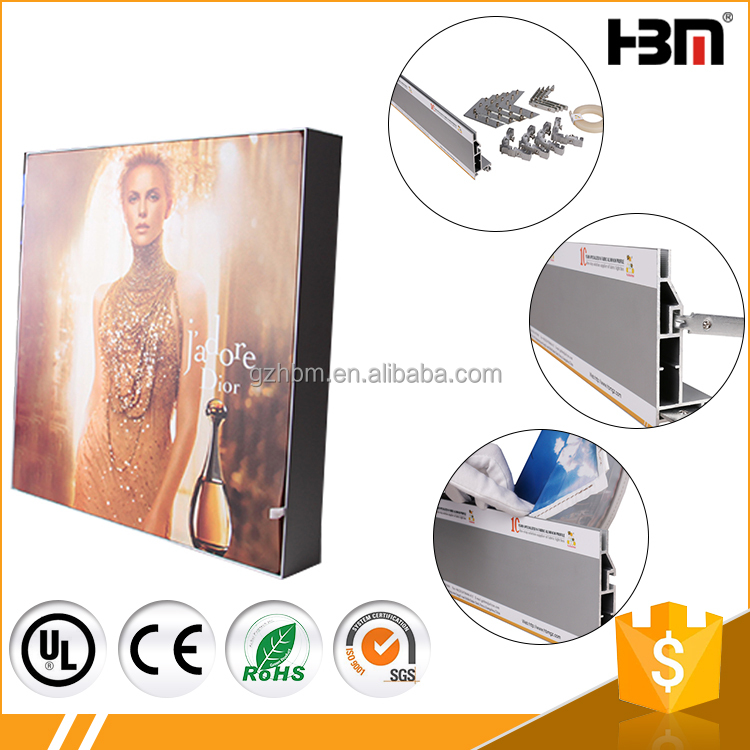10cm extrusion aluminum profile for wall mounted billboard picture frames