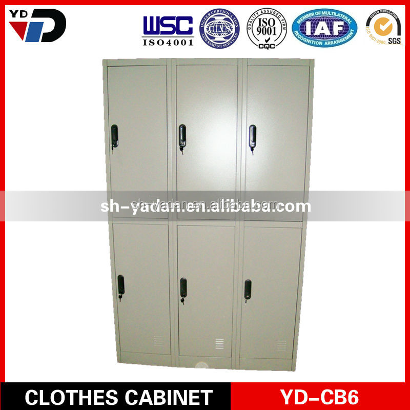 Staff and worker clothes lockers , steel clothes cabinet,locker room benches