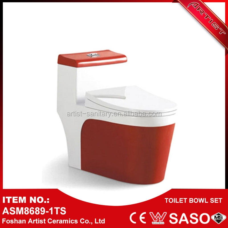 Alibaba Cheap Price Kenya Red Colored Ceramic Bowl Toilet