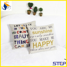 Letter Style Pattern Customized Garden Cushion Cover Wholesale Car And Home Seat Massage Cushion