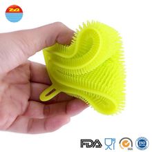 Hot sale Wholesale rubber dish stay clean silicone eco scrubber