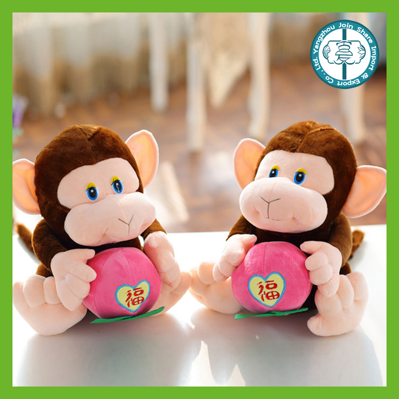 Wholesale best made cheap small stuffed soft plush toy monkeys for children