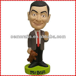 Customized mr bean silly bean famous person bobble head
