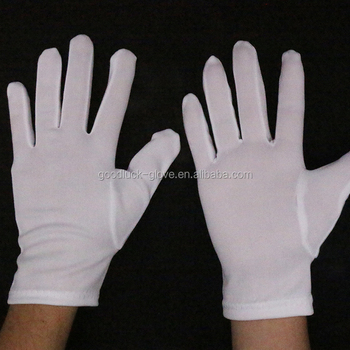 White working nylon glove for quality inspection
