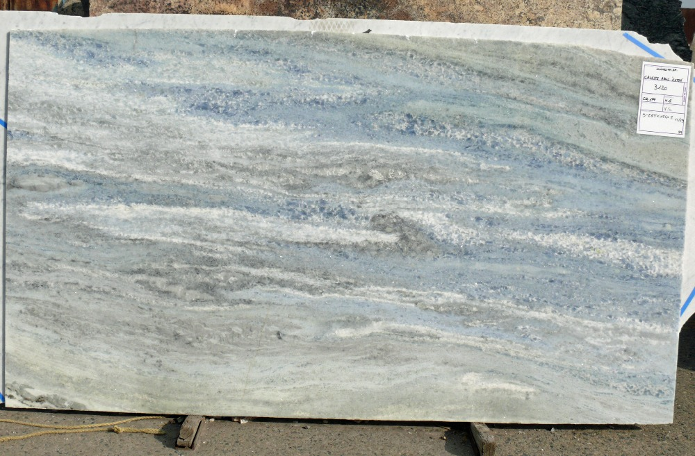 manufacturer wholesale calcite blue azul natural stone blue polished italy granite slab