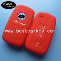Hot Sales silicone car key case for vw key cover 3 button car key covers
