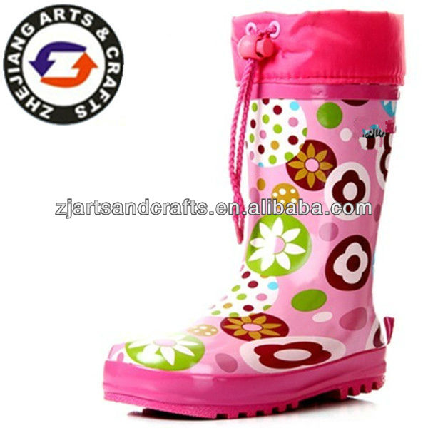 Wholesale waterproof rubber dust boots for girls