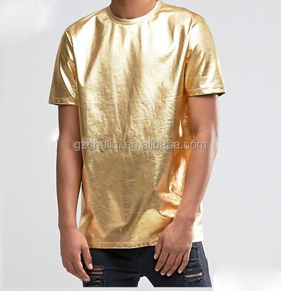 short sleeve hoodie 200Gram 100%Cotton Short Sleeve Oversize Material Gold Color Wholesale Men T Shirt T-1773