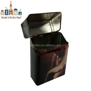 cigarette packing tin box tabacco package tinplate box
