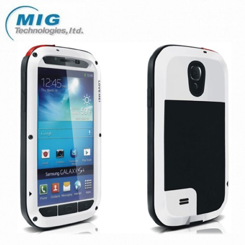 LOVE MEI Powerful 5 colors Phone case for Samsung galaxy S4, Shockproof Waterproof Rugged Gorilla