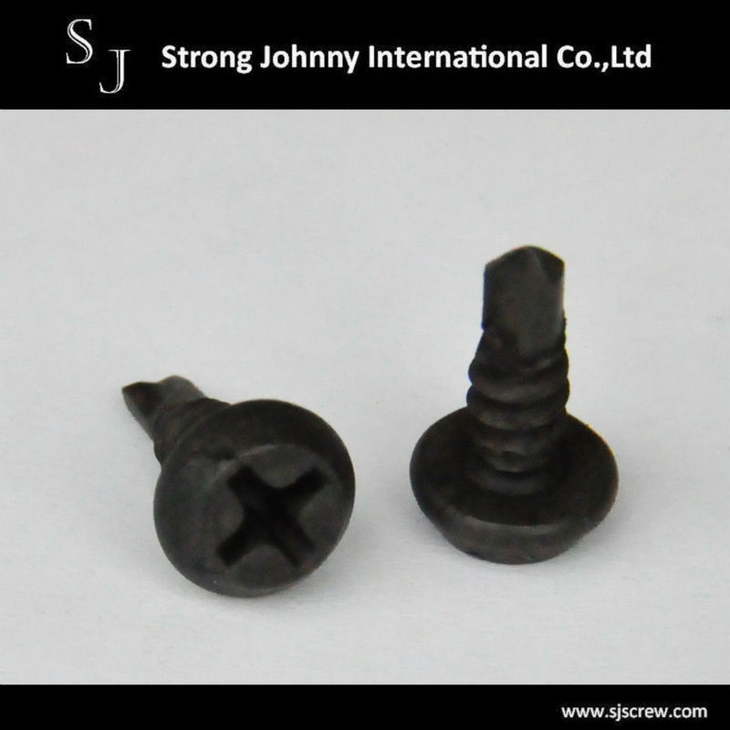 Black Zinc Plated cross recessed button head Stitching Screw