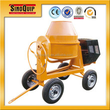 mobile diesel concrete mixer 400L for sale SM400-S178F with aircooled diesel engines and electric motor