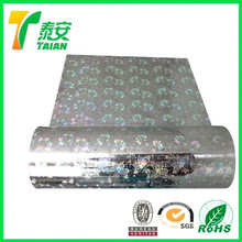 26 mic Silver Laminating Film / EVA Hot Melting Extrusion Holographic Film Self Adhesive Holographic Film