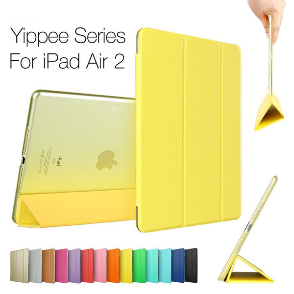 Excellent soft pu leather smartcover case for ipad 6/air 2, (also accept oem for ipad series)