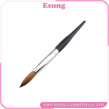 Top quality different size six angle wooden handle Nail art Brush 100% Kolinsky nail art pen