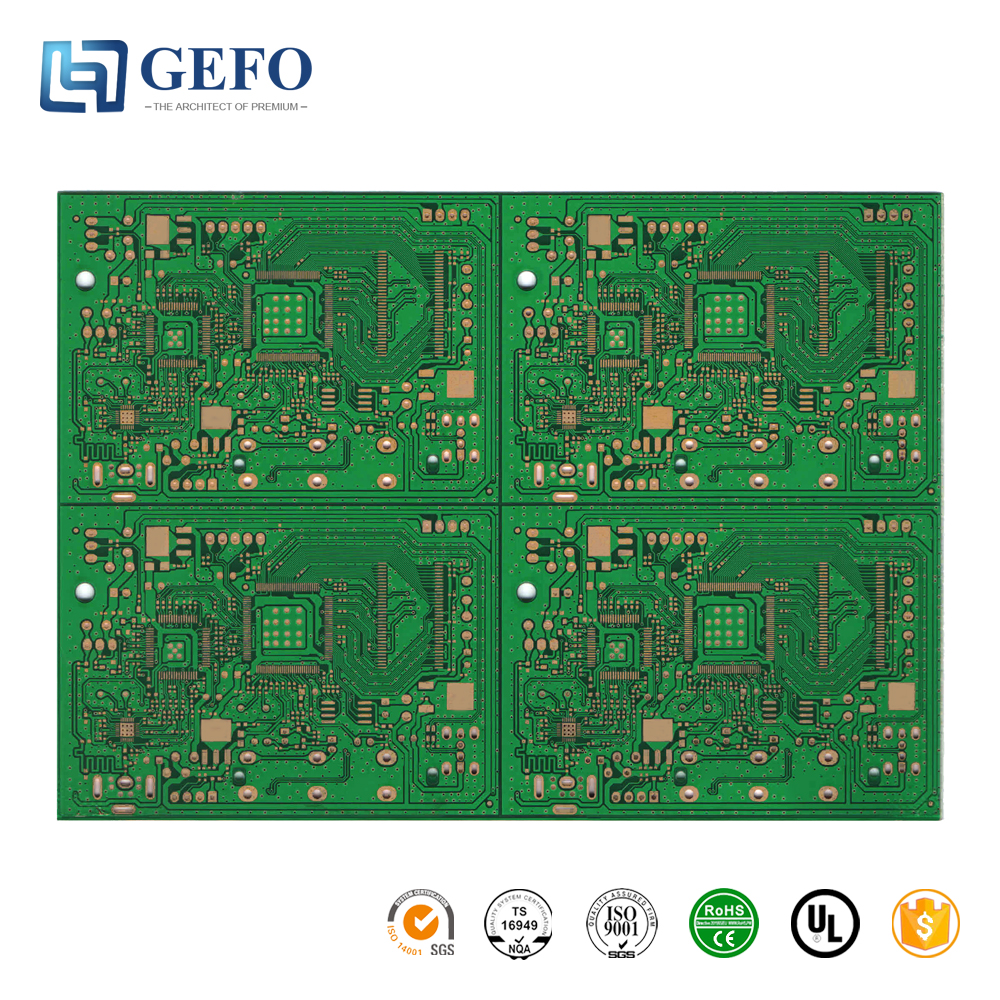 Low Cost Immersion Gold/Silver/Tin Double Side PCB, FR1 FR4 CEM3 High Density Double Side PCB Board Manufacturer