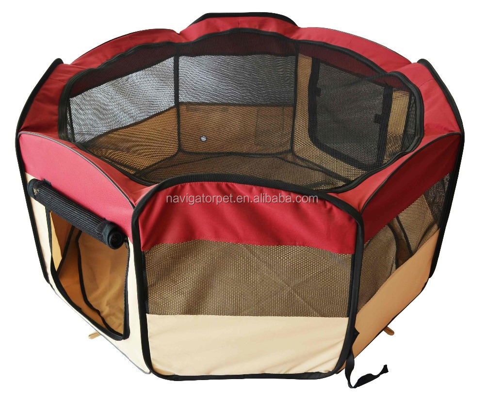 Portable Pop Up Pet Playpen Pen With Carrying Bag