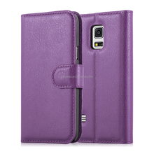 Hot Selling Lichee Wallet Flip PU Leather Case Cover for samsung galaxy S5 mini