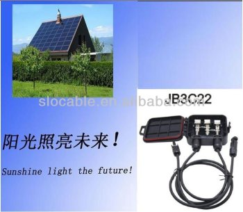 Waterproof solar junction box