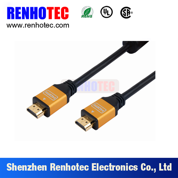 1.4 versions flexible HDMI cable for 1080P 3D film ethernet, high data transfer speed HDMI cable