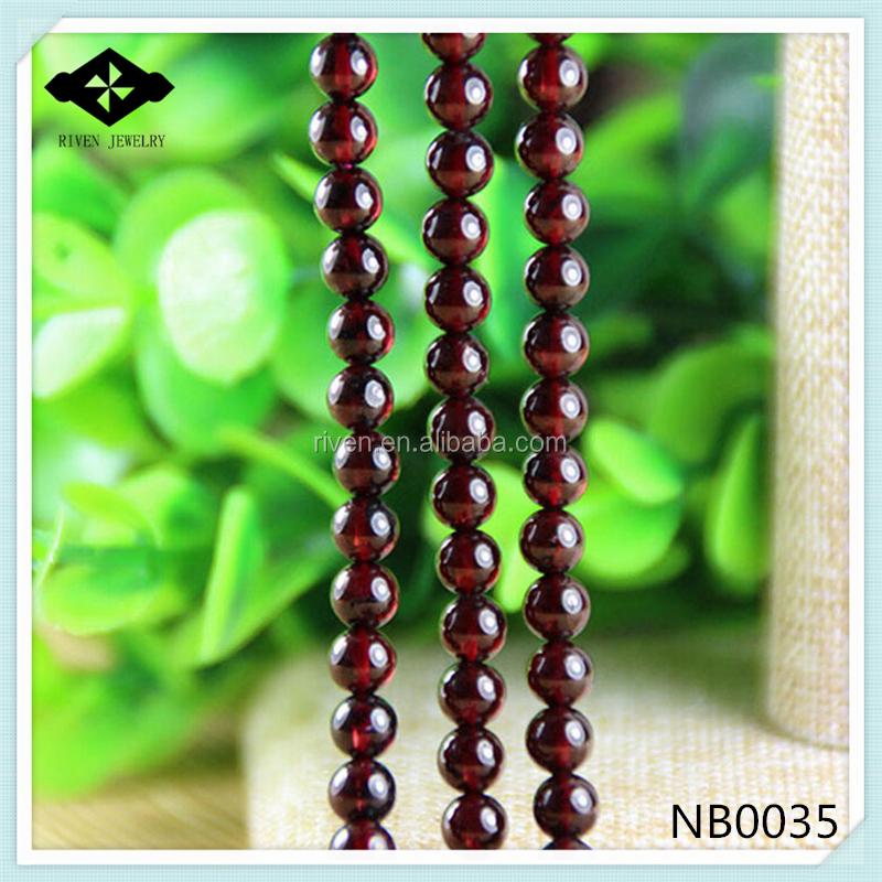 NB0035 Natural Semi precious Stone Bead 4mm 6mm 8mm 10mm garnet loose bead.jpg