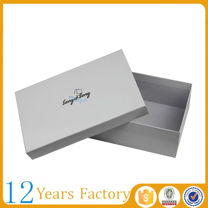 Recycled custom white cardboard shoe box wholesale